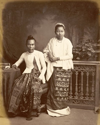 [Portrait of a] Burmese man and wife.